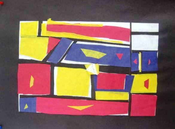 Mondrian Inspired Paper Collage