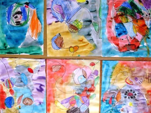 Line Art Lesson For Kindergarten : Lines go walking in kindergarten alejandra chavez