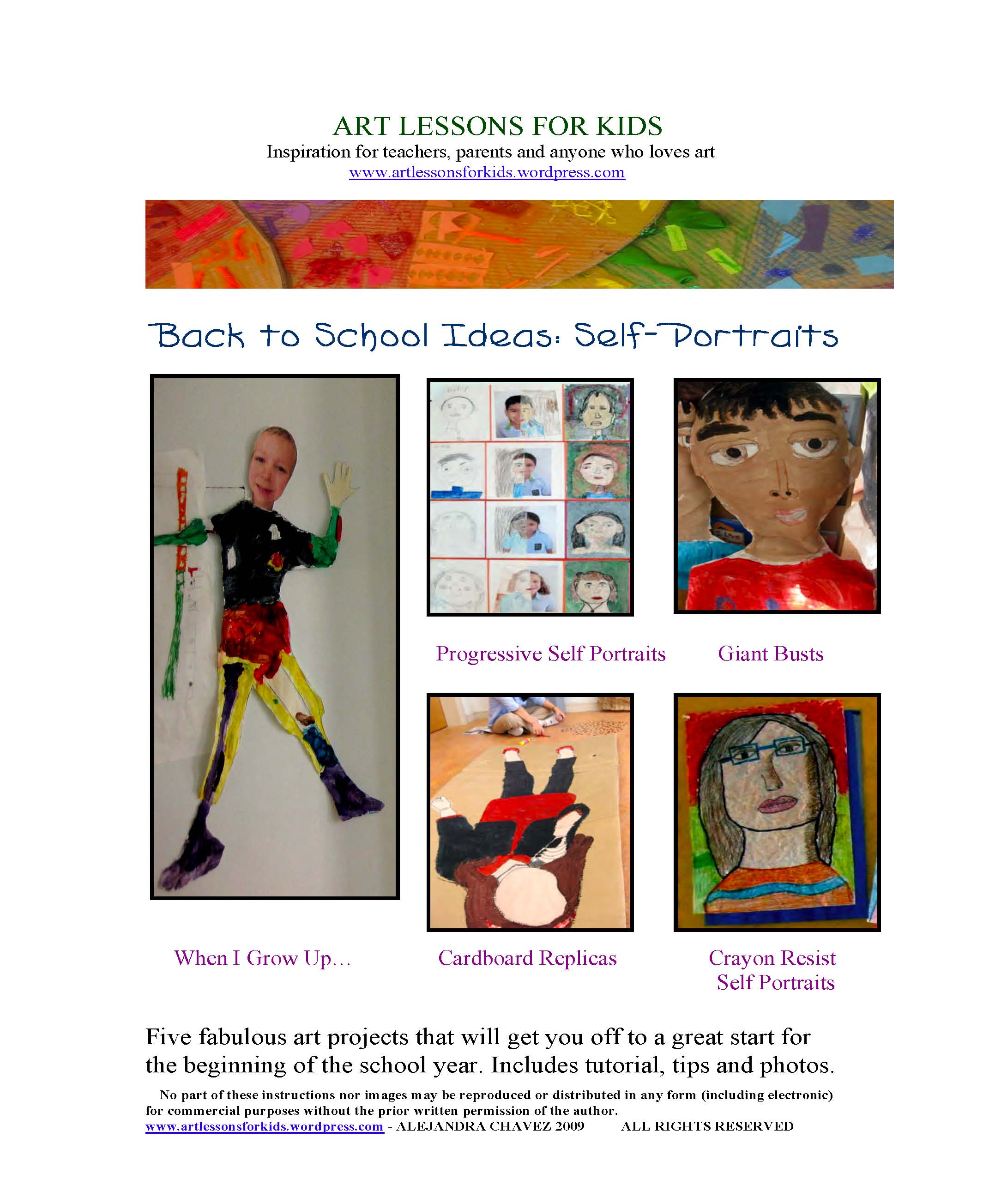 Back to school art ideas self portraits page 013