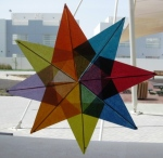A tissue paper star I made for my classroom window