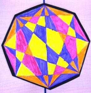 geometric designs in grade five art lessons for kids
