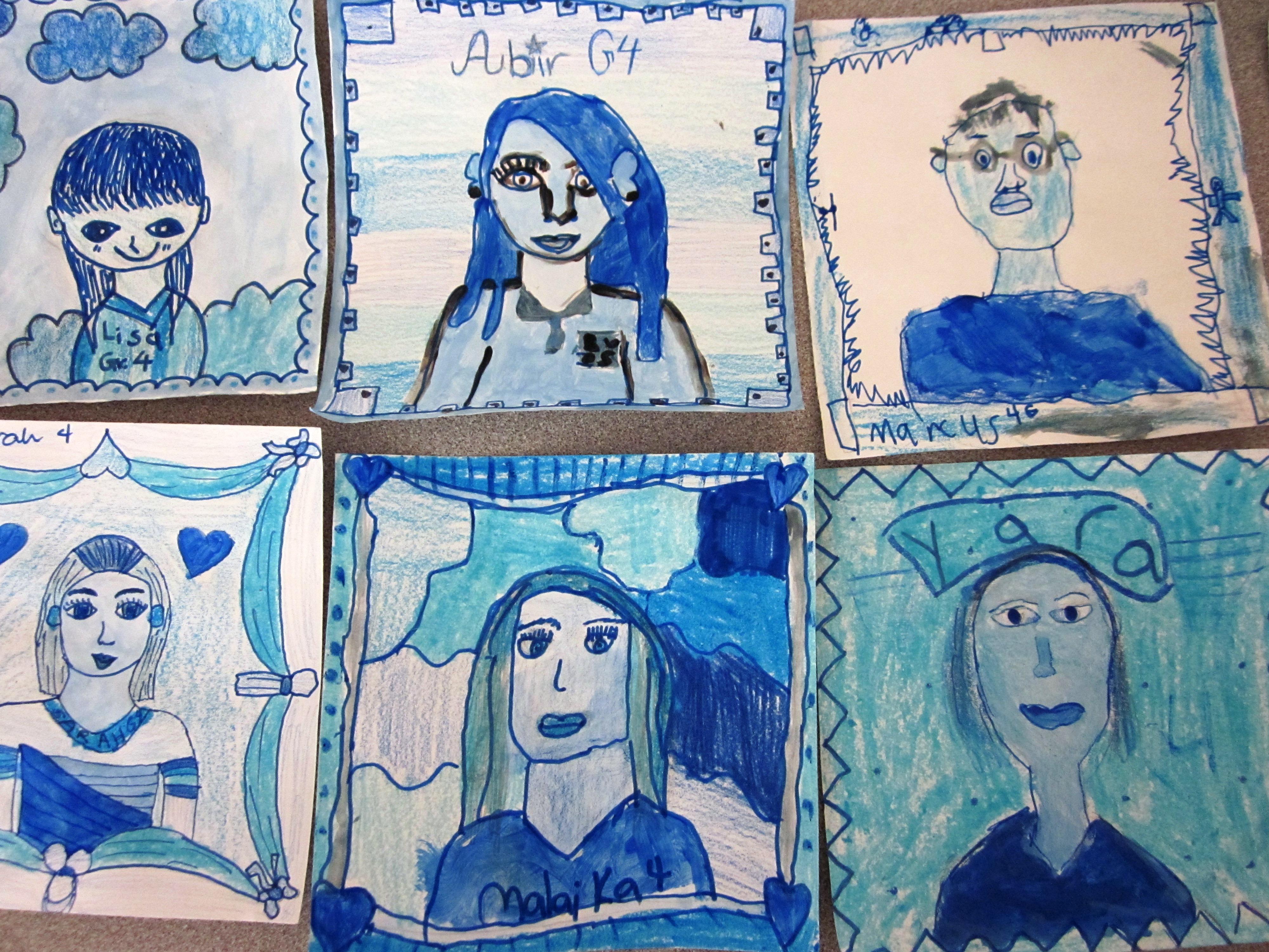 mini me self portraits art lessons for kids