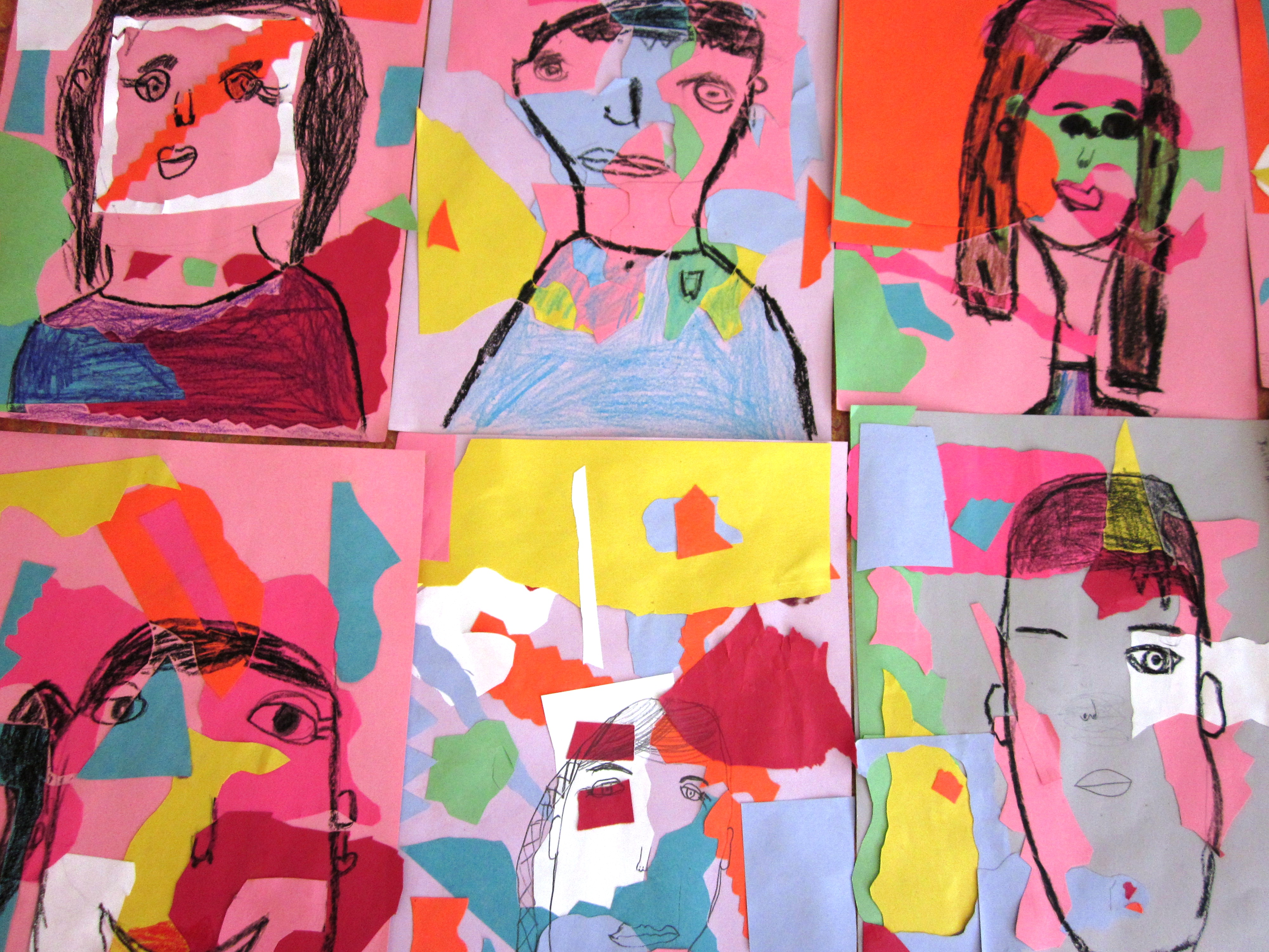 matisse inspired self portraits in grade one art lessons for kids