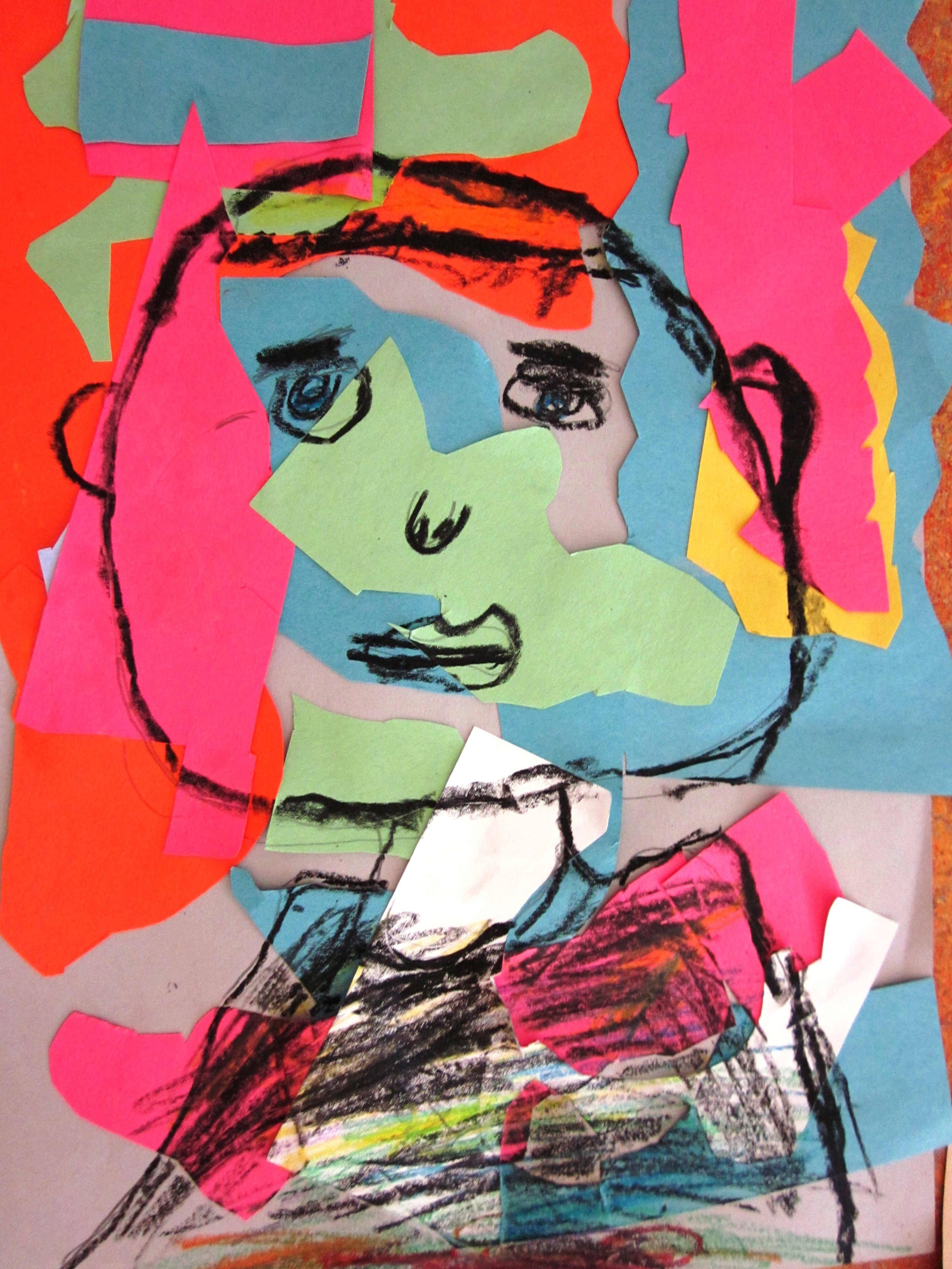 Matisse Inspired Self-Portraits In Grade One