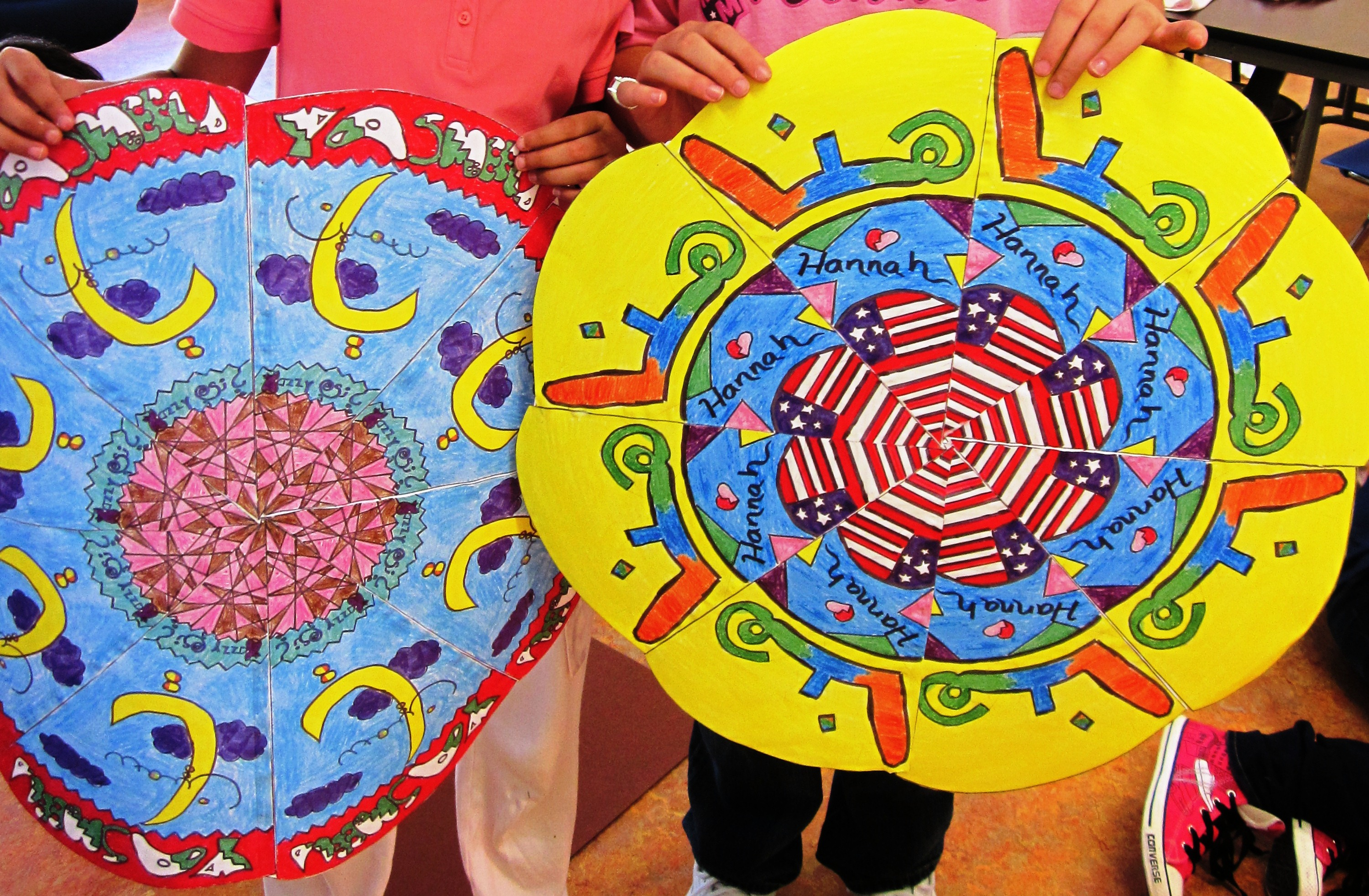 Gorgeous radial designs in grade five art lessons for kids