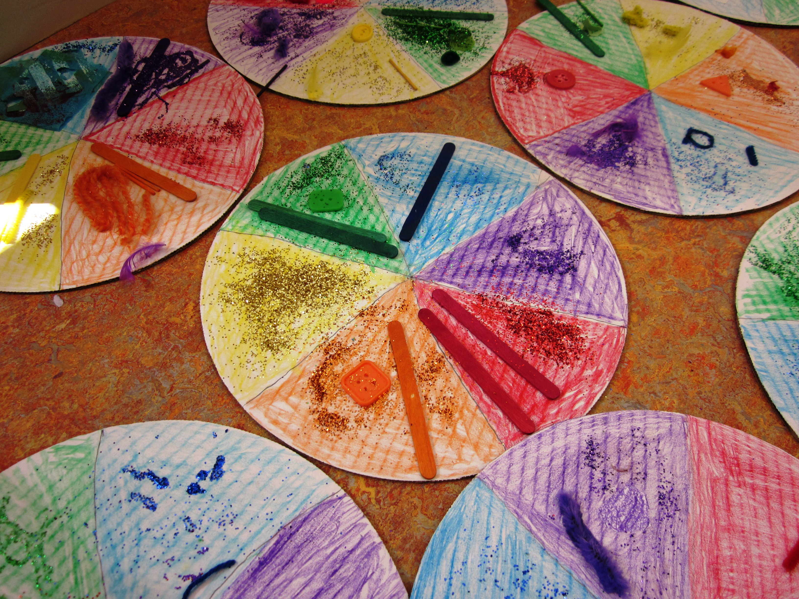 Color theory worksheet for kids - Delicious Color Wheel Pizzas In Grade Two
