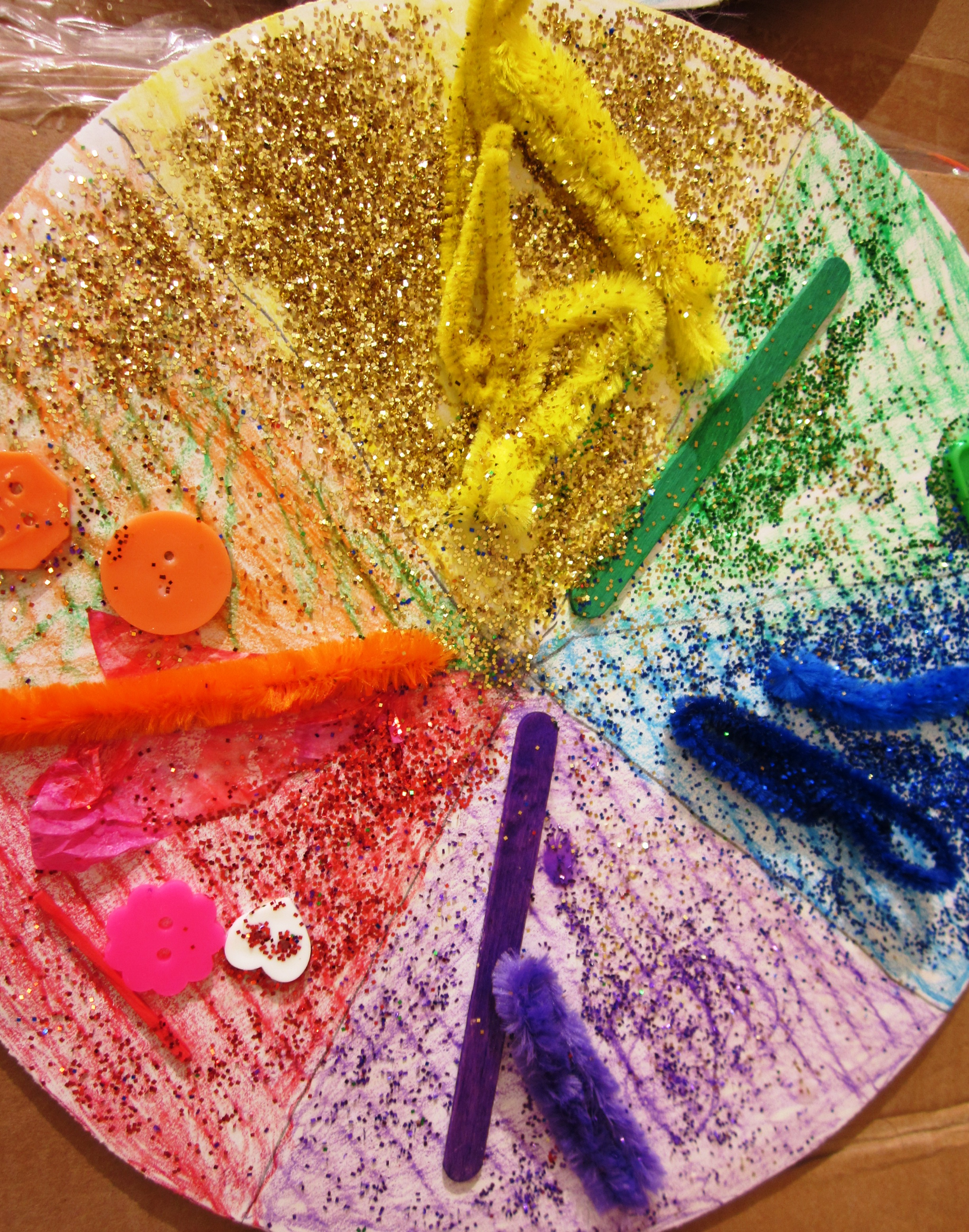 Color wheel art projects for kids - Delicious Color Wheel Pizzas In Grade Two