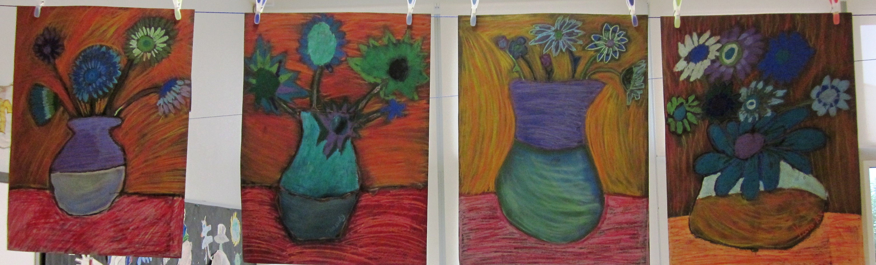 Art Projects Using Oil Pastels