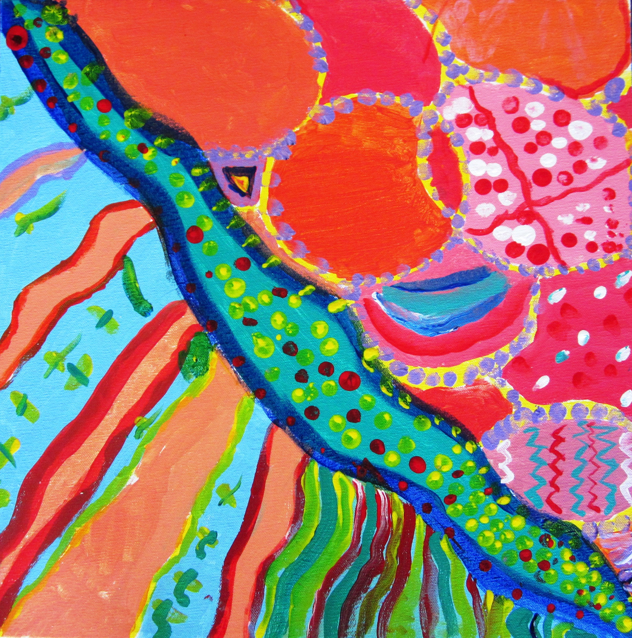 Art Lessons : Gorgeous abstract art in grade seven lessons for kids