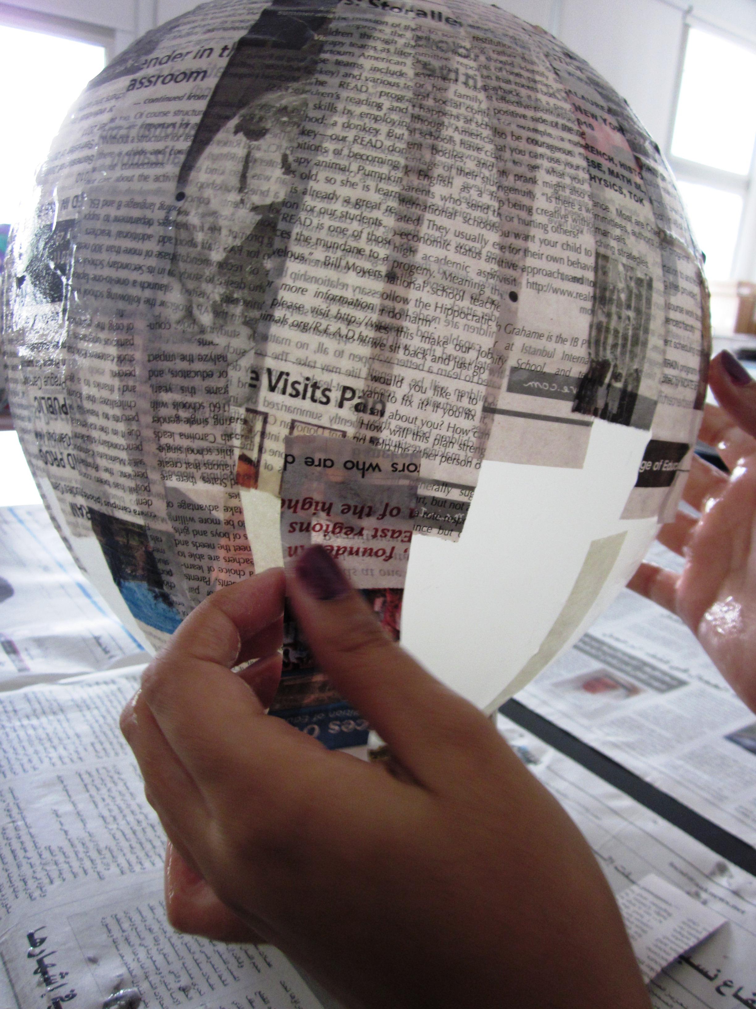 Papier mache greek vases in grade seven alejandra chavez layering the paper strips reviewsmspy