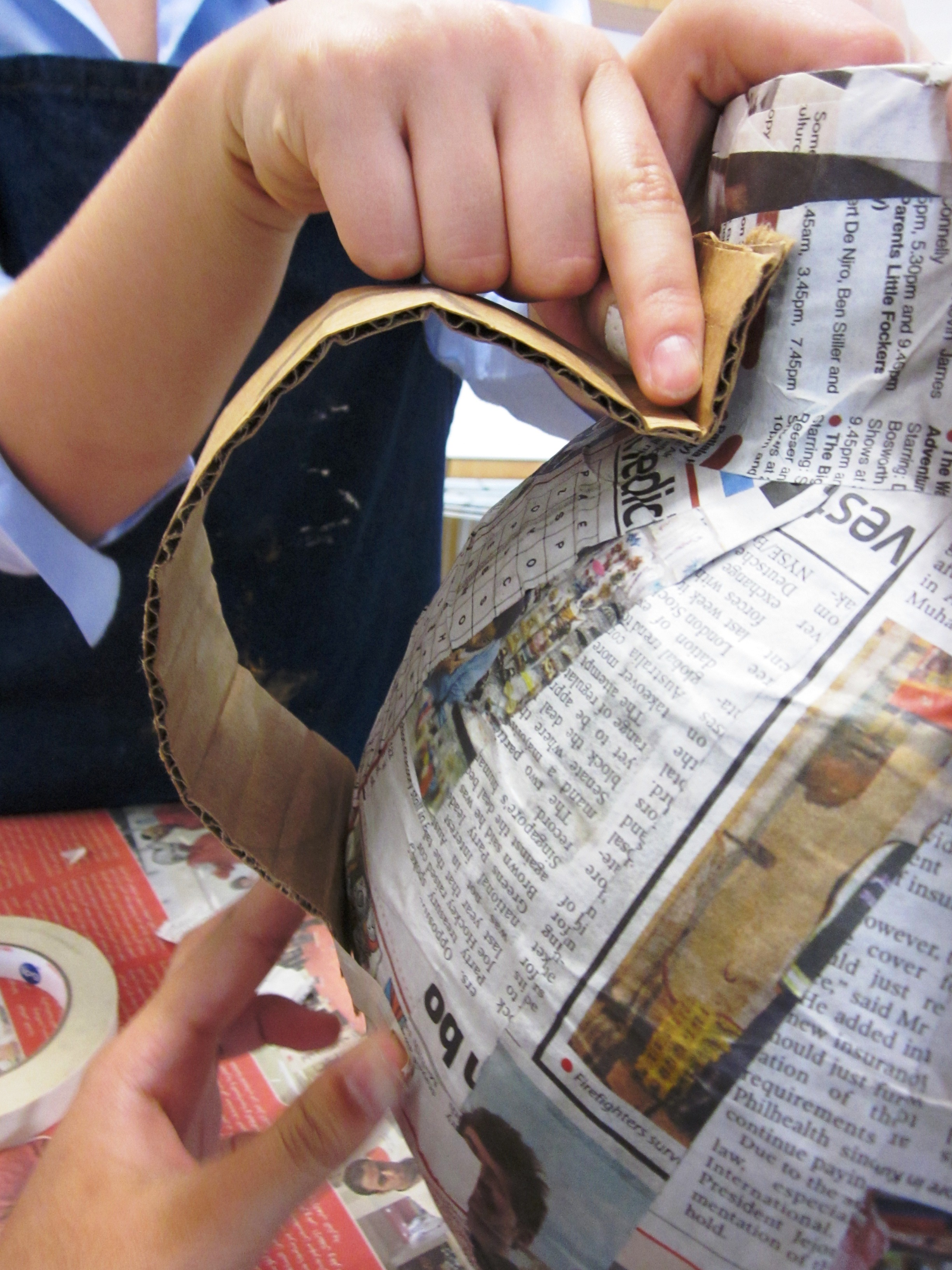 Papier mache greek vases in grade seven alejandra chavez adding the handles reviewsmspy
