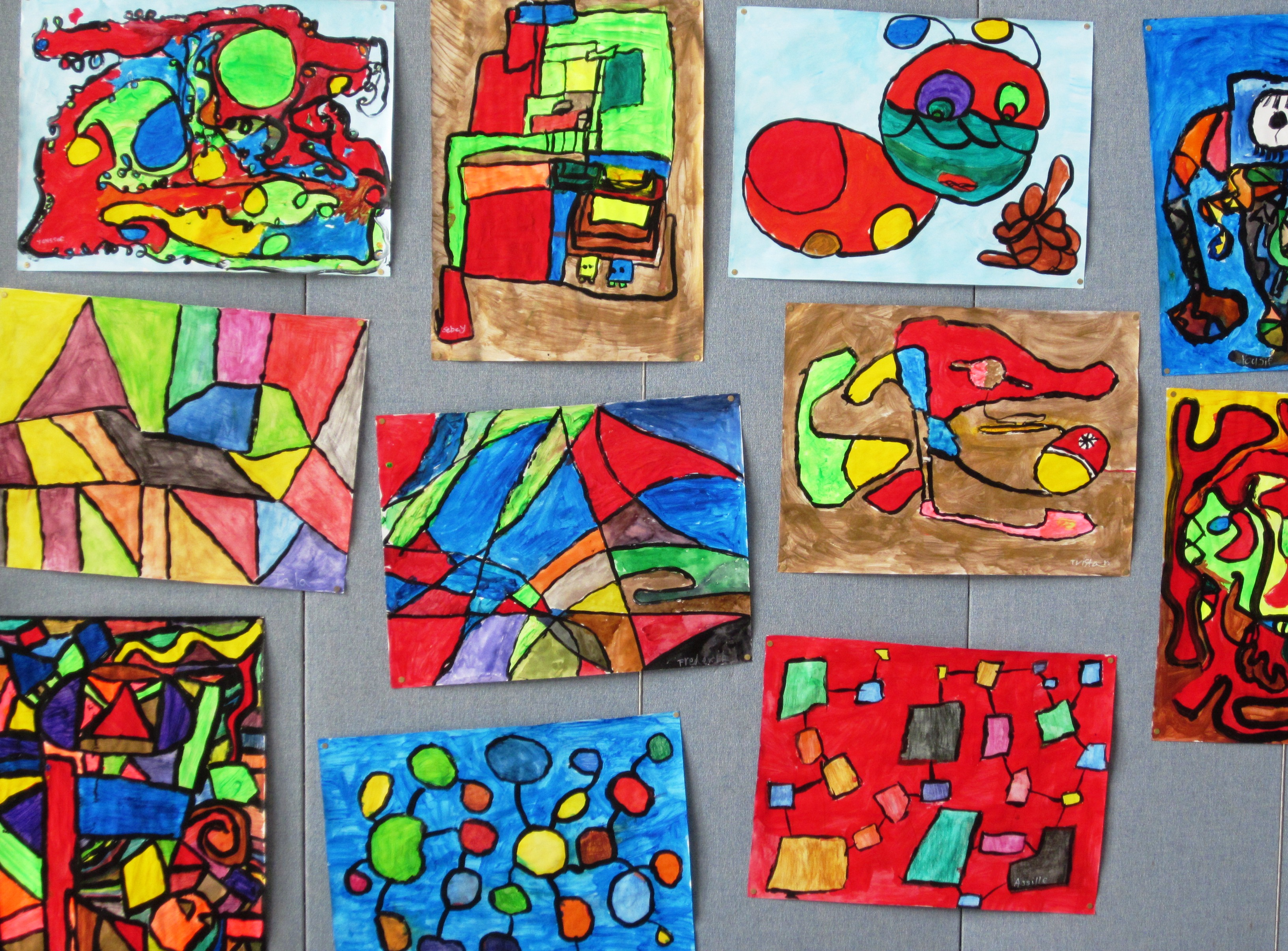 Art Lessons : Abstract art in grade three lessons for kids