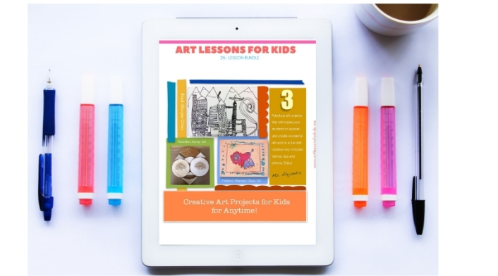 Three Creative Art Projects For Kids Art Lessons For Kids